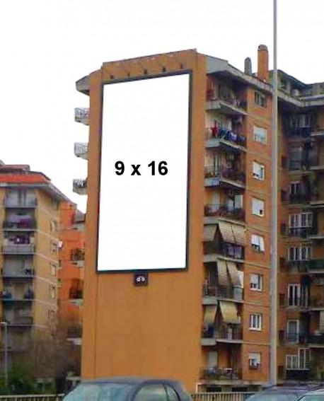 Via Portuense Roma pubblicità MAXI FORMATO ILLUMINATO impianto 850x1560cm outdoor per 14 giorni