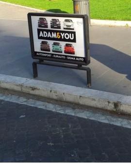 Parapedonale - Roma Parioli - Piazza  Ungheria Lato Viale Romania - 100x70 per 14 giorni - Affissioni SCG Roma
