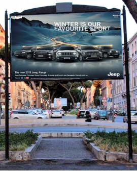 Roma Africano - V.le SOMALIA mt. 15 Via Fara Sabina - ex SPQR - 300X200  outdoor per 14 giorni