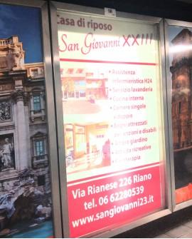 Galleria pedonale Piazza di Spagna pubblicità cartello 104x165cm indoor per 30 giorni Parcheggio Villa Borghese Roma - SABA