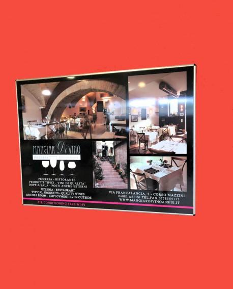 Galleria pedonale piazza Santa Chiara Assisi pubblicità cartello 200x150 indoor per 30 giorni Parcheggio Mojano Assisi - SABA