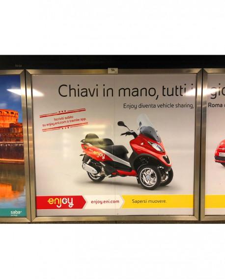 Galleria pedonale Piazza di Spagna pubblicità Cartello 187x165cm indoor per 30 giorni Parcheggio Villa Borghese Roma - SABA
