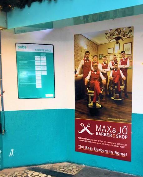 Biglietteria - pubblicità Cartello 100x200cm indoor per 30 giorni Parcheggio Villa Borghese Roma - SABA