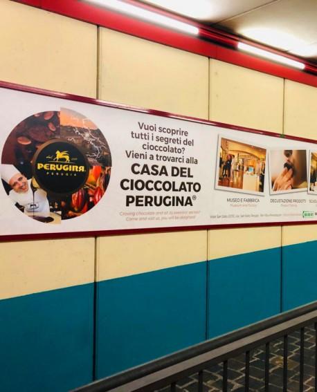 Biglietteria - pubblicità Cartello 500x102cm indoor per 30 giorni Parcheggio Piazza Partigiani Perugia - SIPA