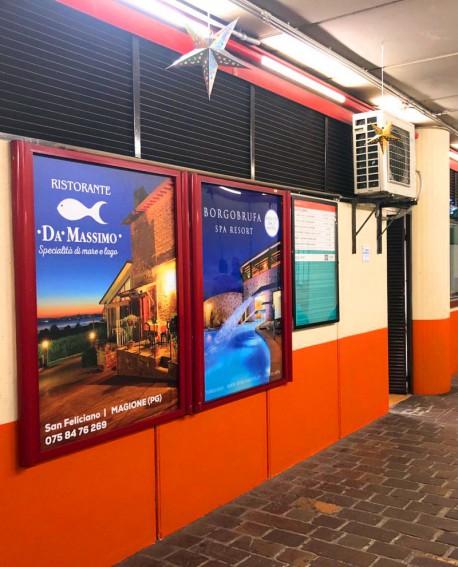 Biglietteria - pubblicità Cartello 100x140cm indoor per 30 giorni Parcheggio Piazza Partigiani Perugia - SIPA