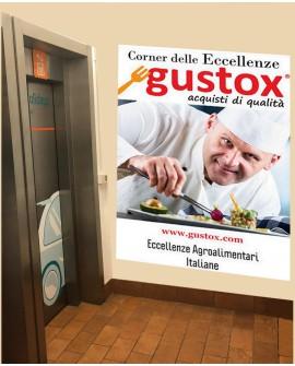 Ascensore cartello pubbicitario 100x140cm indoor per 30 giorni Parcheggio Mestre-Venezia SABA
