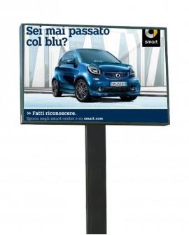 Roma Collatina - Via Collatina a mt. 11 fronte civico 331 fronte distributore Q8 sx -Poster- 300X200 per 14 giorni - Affissioni
